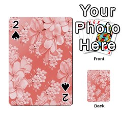 Delicate Floral Pattern,pink  Playing Cards 54 Designs