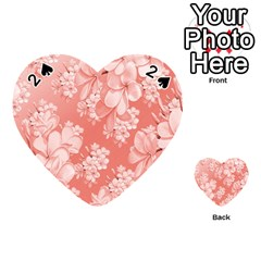 Delicate Floral Pattern,pink  Playing Cards 54 (Heart)