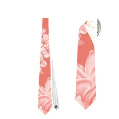 Delicate Floral Pattern,pink  Neckties (One Side)