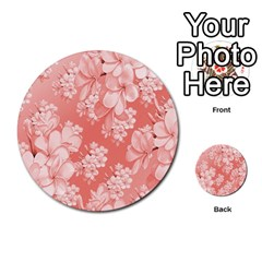 Delicate Floral Pattern,pink  Multi-purpose Cards (Round)