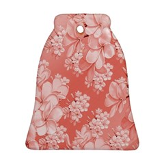 Delicate Floral Pattern,pink  Ornament (Bell)