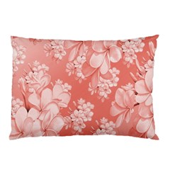 Delicate Floral Pattern,pink  Pillow Cases (Two Sides)