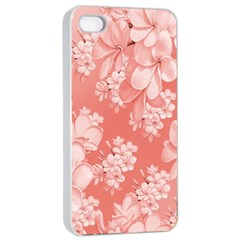 Delicate Floral Pattern,pink  Apple iPhone 4/4s Seamless Case (White)
