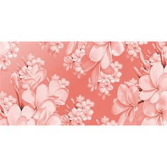 Delicate Floral Pattern,pink  You Are Invited 3d Greeting Card (8x4)