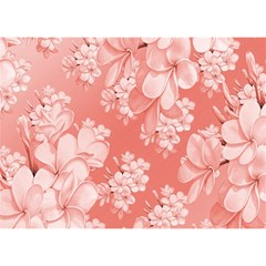 Delicate Floral Pattern,pink  Birthday Cake 3D Greeting Card (7x5)