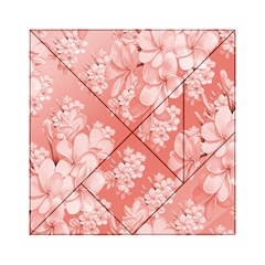 Delicate Floral Pattern,pink  Acrylic Tangram Puzzle (6  x 6 )