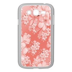 Delicate Floral Pattern,pink  Samsung Galaxy Grand Duos I9082 Case (white)