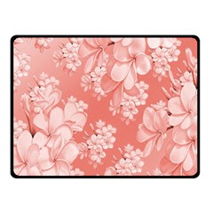 Delicate Floral Pattern,pink  Double Sided Fleece Blanket (small)