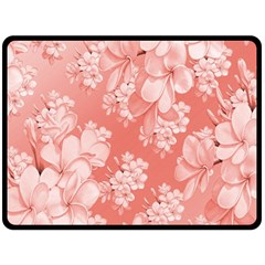 Delicate Floral Pattern,pink  Double Sided Fleece Blanket (large)