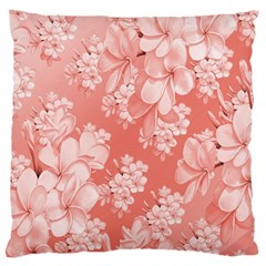 Delicate Floral Pattern,pink  Large Flano Cushion Cases (One Side)