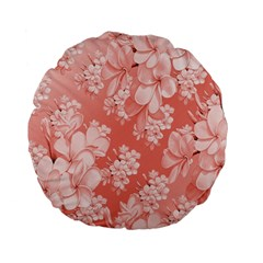 Delicate Floral Pattern,pink  Standard 15  Premium Flano Round Cushions