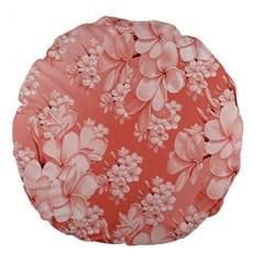 Delicate Floral Pattern,pink  Large 18  Premium Flano Round Cushions
