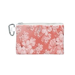 Delicate Floral Pattern,pink  Canvas Cosmetic Bag (S)