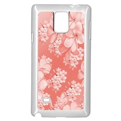 Delicate Floral Pattern,pink  Samsung Galaxy Note 4 Case (White)