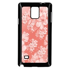 Delicate Floral Pattern,pink  Samsung Galaxy Note 4 Case (Black)
