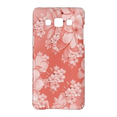 Delicate Floral Pattern,pink  Samsung Galaxy A5 Hardshell Case