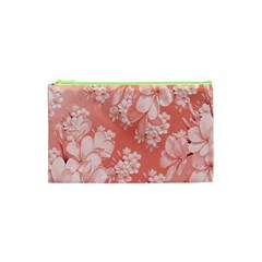 Delicate Floral Pattern,pink  Cosmetic Bag (XS)
