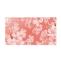 Delicate Floral Pattern,pink  Satin Wrap