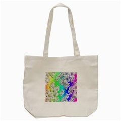 Delicate Floral Pattern,rainbow Tote Bag (cream)