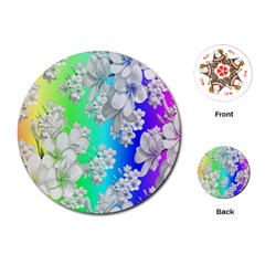 Delicate Floral Pattern,rainbow Playing Cards (Round)