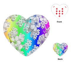 Delicate Floral Pattern,rainbow Playing Cards (Heart)