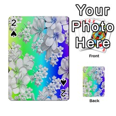 Delicate Floral Pattern,rainbow Playing Cards 54 Designs