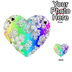Delicate Floral Pattern,rainbow Playing Cards 54 (Heart)