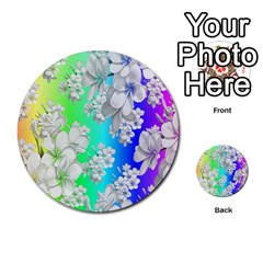 Delicate Floral Pattern,rainbow Multi-purpose Cards (Round)