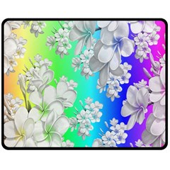 Delicate Floral Pattern,rainbow Fleece Blanket (medium)
