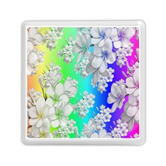 Delicate Floral Pattern,rainbow Memory Card Reader (Square)