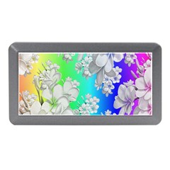 Delicate Floral Pattern,rainbow Memory Card Reader (Mini)