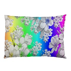 Delicate Floral Pattern,rainbow Pillow Cases (Two Sides)