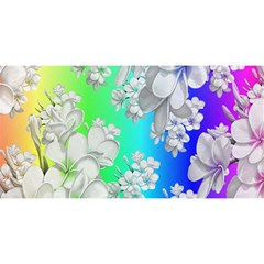 Delicate Floral Pattern,rainbow YOU ARE INVITED 3D Greeting Card (8x4)
