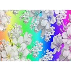 Delicate Floral Pattern,rainbow Birthday Cake 3d Greeting Card (7x5)