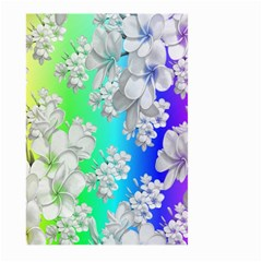 Delicate Floral Pattern,rainbow Large Garden Flag (two Sides)