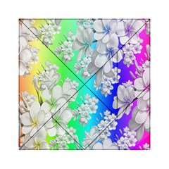 Delicate Floral Pattern,rainbow Acrylic Tangram Puzzle (6  x 6 )