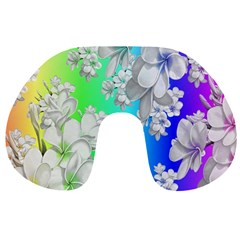 Delicate Floral Pattern,rainbow Travel Neck Pillows