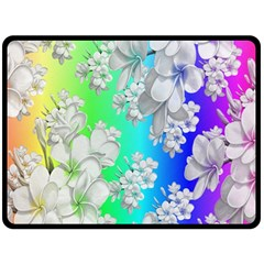 Delicate Floral Pattern,rainbow Double Sided Fleece Blanket (Large)