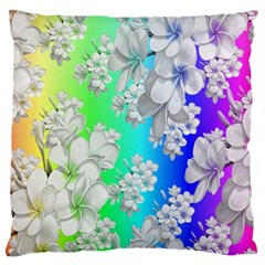 Delicate Floral Pattern,rainbow Large Flano Cushion Cases (Two Sides)