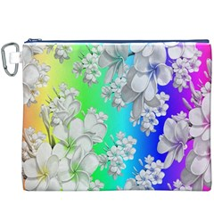 Delicate Floral Pattern,rainbow Canvas Cosmetic Bag (XXXL)