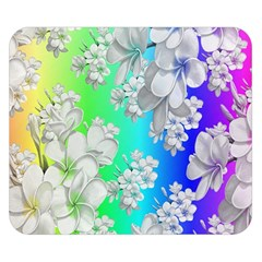 Delicate Floral Pattern,rainbow Double Sided Flano Blanket (Small)
