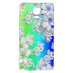Delicate Floral Pattern,rainbow Galaxy Note 4 Back Case