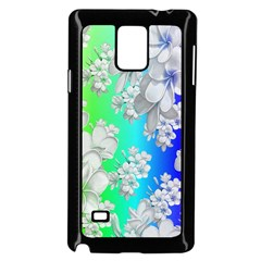 Delicate Floral Pattern,rainbow Samsung Galaxy Note 4 Case (Black)