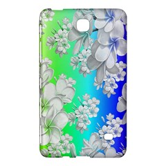 Delicate Floral Pattern,rainbow Samsung Galaxy Tab 4 (8 ) Hardshell Case