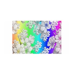 Delicate Floral Pattern,rainbow Satin Wrap