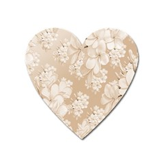 Delicate Floral Pattern,softly Heart Magnet