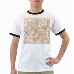 Delicate Floral Pattern,softly Ringer T Shirts