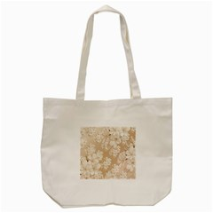 Delicate Floral Pattern,softly Tote Bag (Cream)