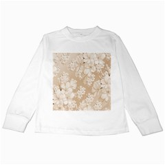 Delicate Floral Pattern,softly Kids Long Sleeve T-Shirts