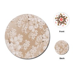 Delicate Floral Pattern,softly Playing Cards (round)